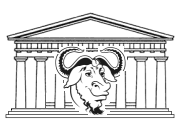 [A GNU in front of the Parthenon]